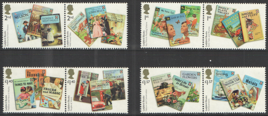 SG TBC 2017 Ladybird Books unmounted mint set of 8